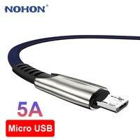 Cavo Micro USB a ricarica rapida per Samsung Huawei Xiaomi Tablet cavo dati per telefono cellulare Android cavo caricabatterie MicroUSB cavo 1m 2m 3m
