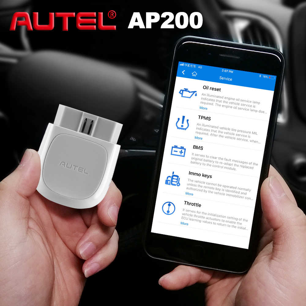 Autel AP200 OBD2 Scanner Bluetooth Code Reader Volledige System Diagnostic Tool Autovin Epb Bms Sas Tpms Dpf Immo Pk Maxicom MK808