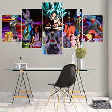Home Decor Modular Picture Canvas Painting 5 Piece Dragon Ball Super Animation Poster Wall For Living Room Modern