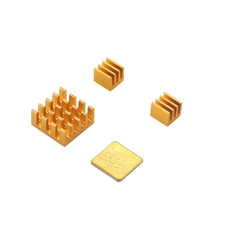 Orange Pi 3 Heatsink 4 pcs Aluminum Alloy Heat Sink with Logo Cooling Pad CPU Cooler Radiator for Orange Pi 3