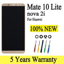 100 nowy wyświetlacz dla HUAWEI Nova 2i ekran dotykowy LCD z ramką dla HUAWEI Mate 10 Lite wyświetlacz LCD Nova 2i RNE-L21 tanie tanio BYFLCD NONE CN (pochodzenie) Pojemnościowy ekran 1920x1080 3 LCD for HUAWEI Mate 10 Lite Nova 2i LCD i ekran dotykowy Digitizer
