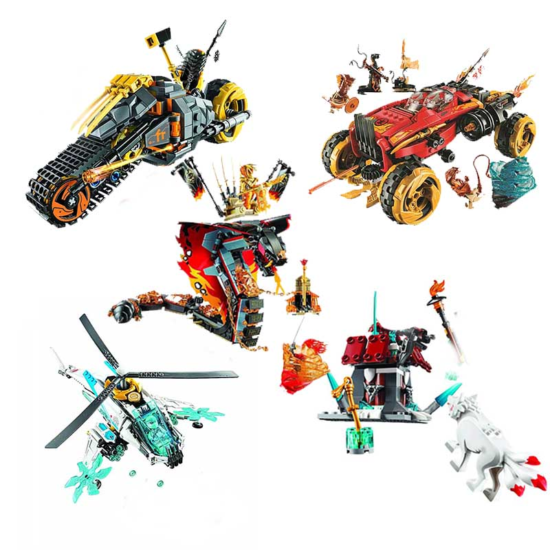 Ninjagoed Cole Dirt Bike Building Blocks Kit Bricks Classic Movie Ninja Model Kids Toys For Children Gift