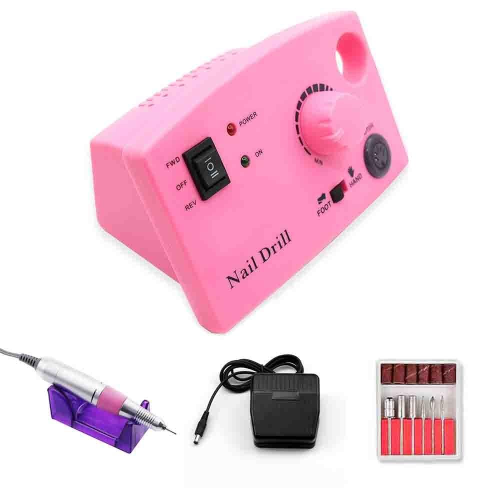 19.5W 35000/20000RPM Electric Nail Drill Manicure Machine Set Professional Milling Machine Manicure Kit Pedicure Nail File Tools