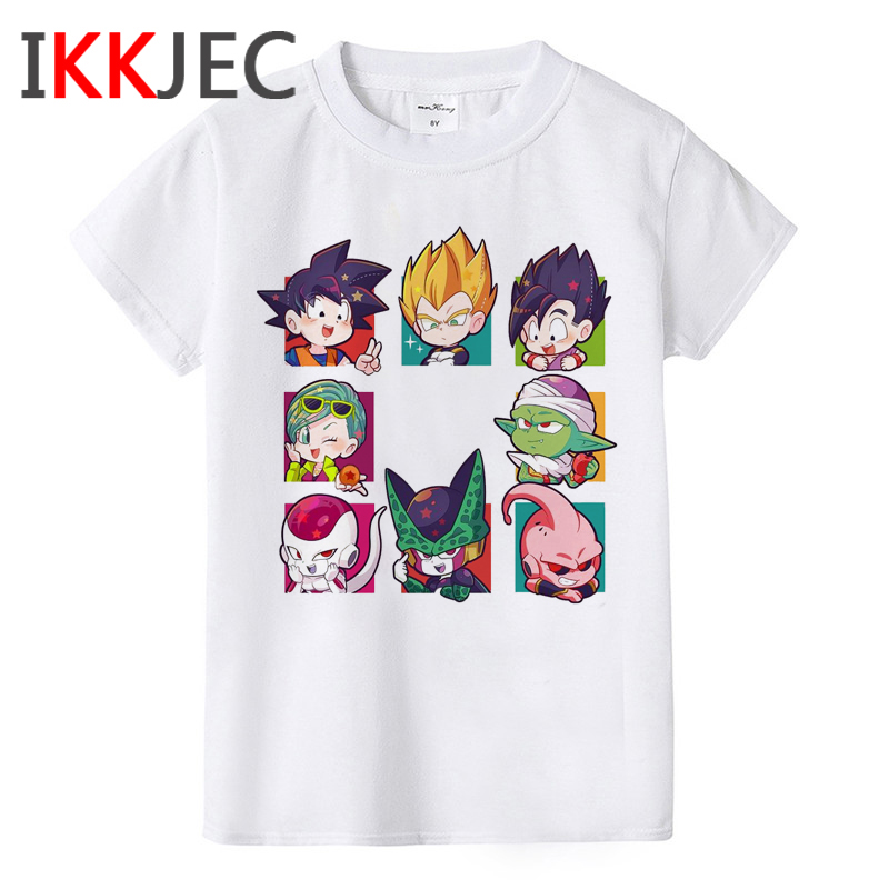 Dragon Ball Z Cool Son Goku Children T Shirt Boys/girls Short Sleeve DBZ T-shirt Son Goku Cute Tshirt Funny Cartoon Kids Clothes