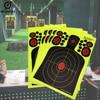 5PCS 9.5*14.5 Inch Half-Length Humanoid Hunting Shooting Target Paper Fluorescent Adhesive Splash Sticker