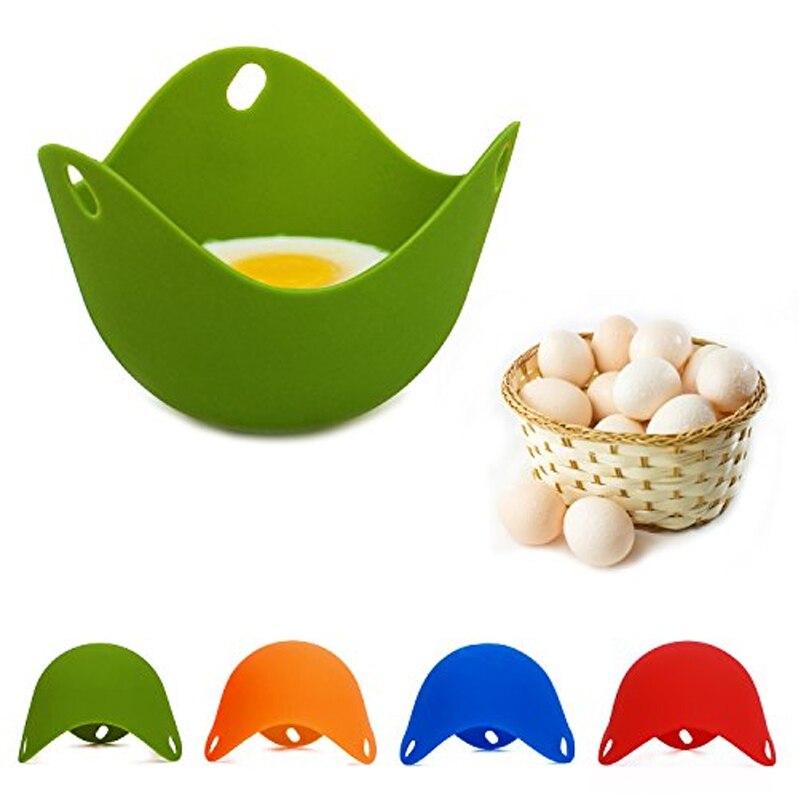 DIY натуральный силиконовый яичный котел Защита окружающей среды яйцо Пароварка многоцветный