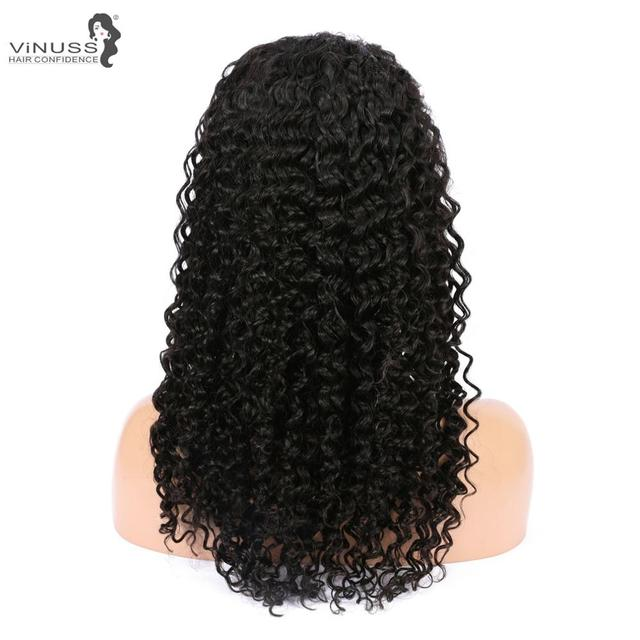 Vinuss Full Lace Human Hair Wigs For Black Women deep wave Lace Front Wigs Brazilian Remy Pre Plucked Bleached Knots 5