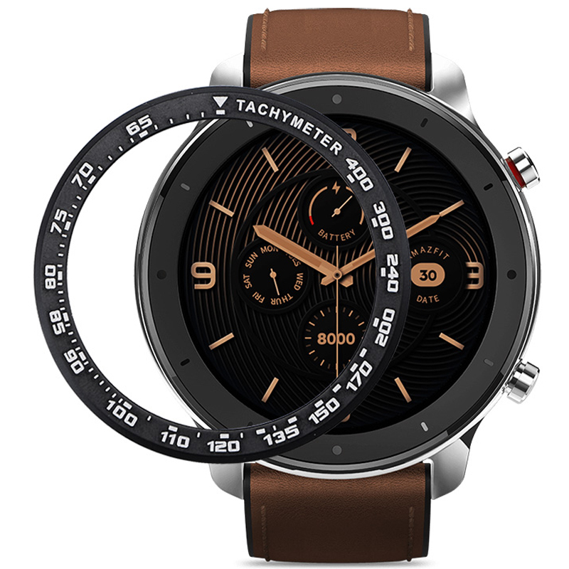 Case For Xiaomi Amazfit GTR 47MM Metal Outer Edge Cover Bezel Ring Dial Scale Speed Tachymeter Case For Amazfit GTR 47 Gift Film