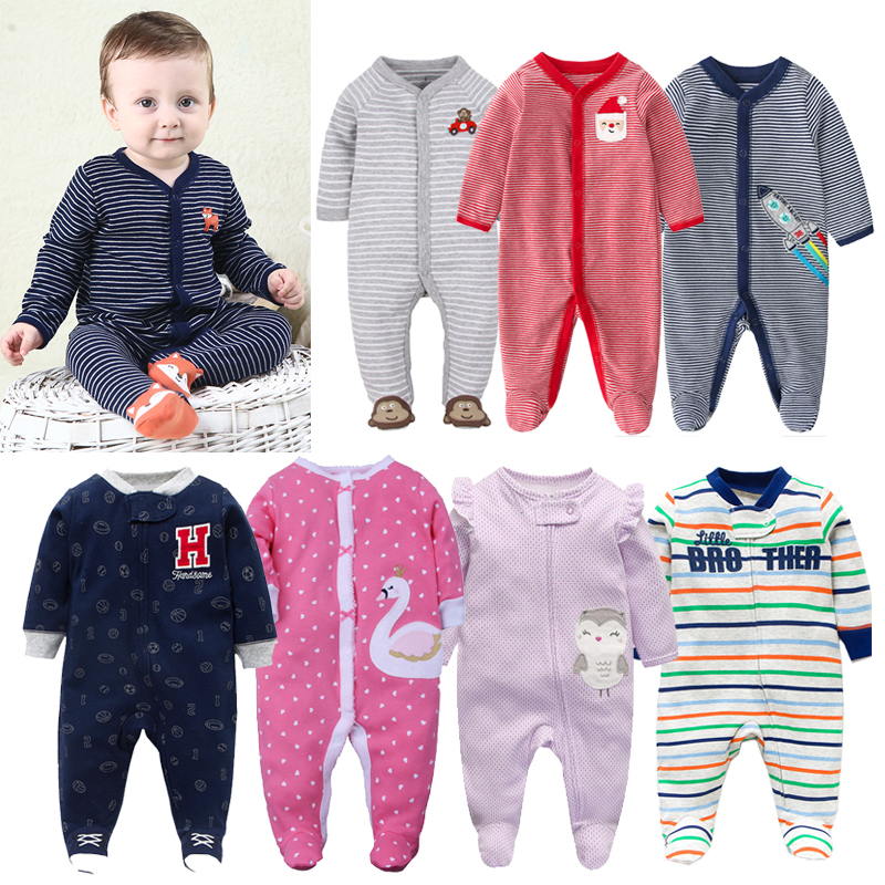 Newborn baby pajamas unicorn cotton   romper   boys clothes overalls   romper   infants bebes jumpsuit premature infant baby clothes
