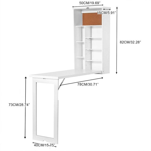 Folding Wall-Mounted Laptop Desk  6