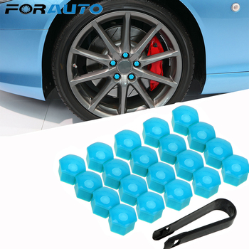 20pcs Car Wheel Nut Caps 17mm Auto Hub Screw Cover Auto Trim Tyre Nut Bolt Exterior Decoration Anti-Rust Dust Proof Protector image