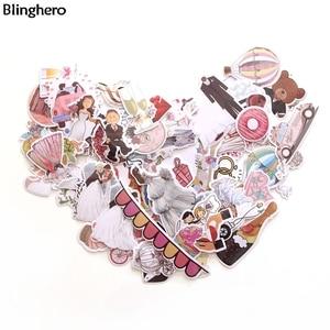 Blinghero Wedding Theme Stickers 68Pcs/set Cartoon Stickers Refrigerator Stickers Decals Luggage Laptop Stickers BH0129