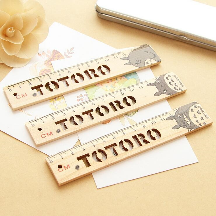 1pcs/lot 12cm Cartoon Cat Straight Wooden Ruler Tool Office Accessories Gift For Kids Student Gift School Supplies Stationery