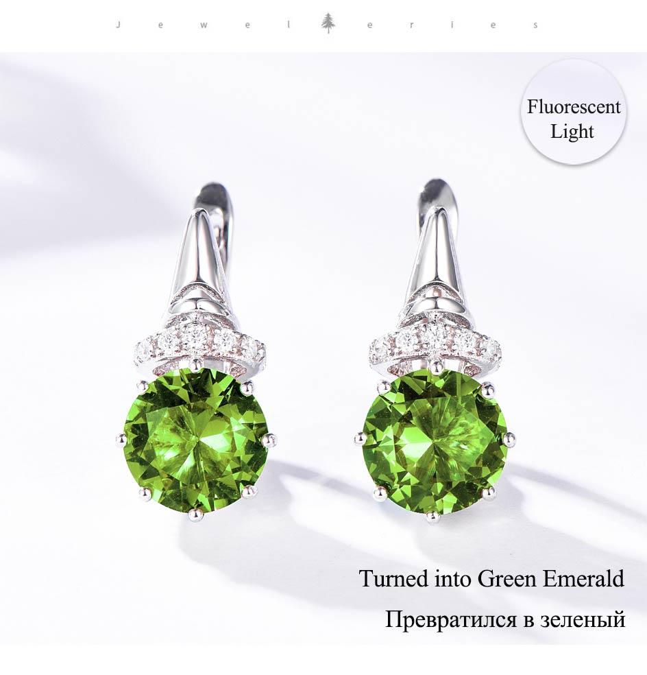 Kuololit Zultanite Gemstone Clip Earrings for Women Solid 925 Sterling Silver Color Change Diaspore Stone Earrings Fine Jewelry (9)