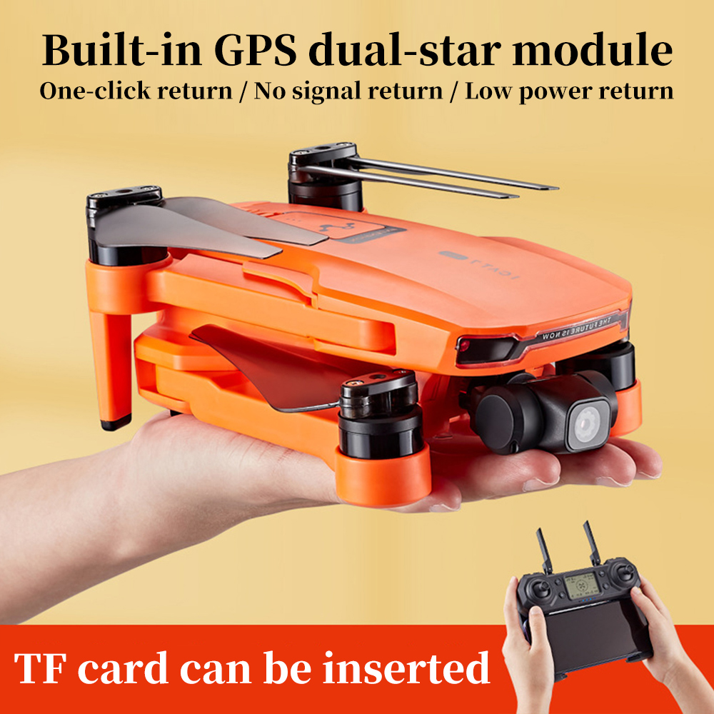 ICAT7 Drone 4k 8k GPS 5G WiFi Two Axis Gimbal Camera 2 4GHz Brushless Motor Supports TF Card Flight For 25 Min VS sg906 pro