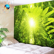 цены Tropical Plant Forest Tapestry Wall Hanging Psychedelic Sun Tapestry Home Decor Hippie Wall Tapestry Boho Mandala Wall Cloth Art