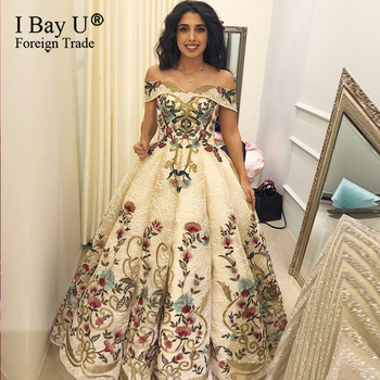 Real Photo Custom Sexy Formal Evening Dress 2020 Off Shoulder Embroidery Beading Sexy Fashion Evening Gown