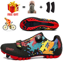 Men Cycling Sneakers MTB Flat Shoes Specialized Women SPD Racing Trek Bike Footwear Male Mountain Freestyle Bicycle Shoes Road