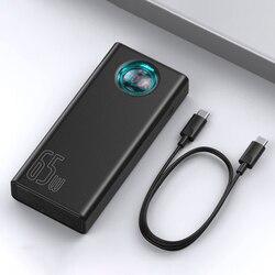 Batería Externa Baseus 30000mAh 65W PD carga rápida QC3.0 cargador de batería para ordenador portátil externo para iPhone Samsung Xiaomi