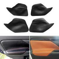 4PCS Car Interior Microfiber Leather Door Panel Armrest Cover Protective Trim For Mitsubishi Outlander 2014 2015 2016 2017 2018