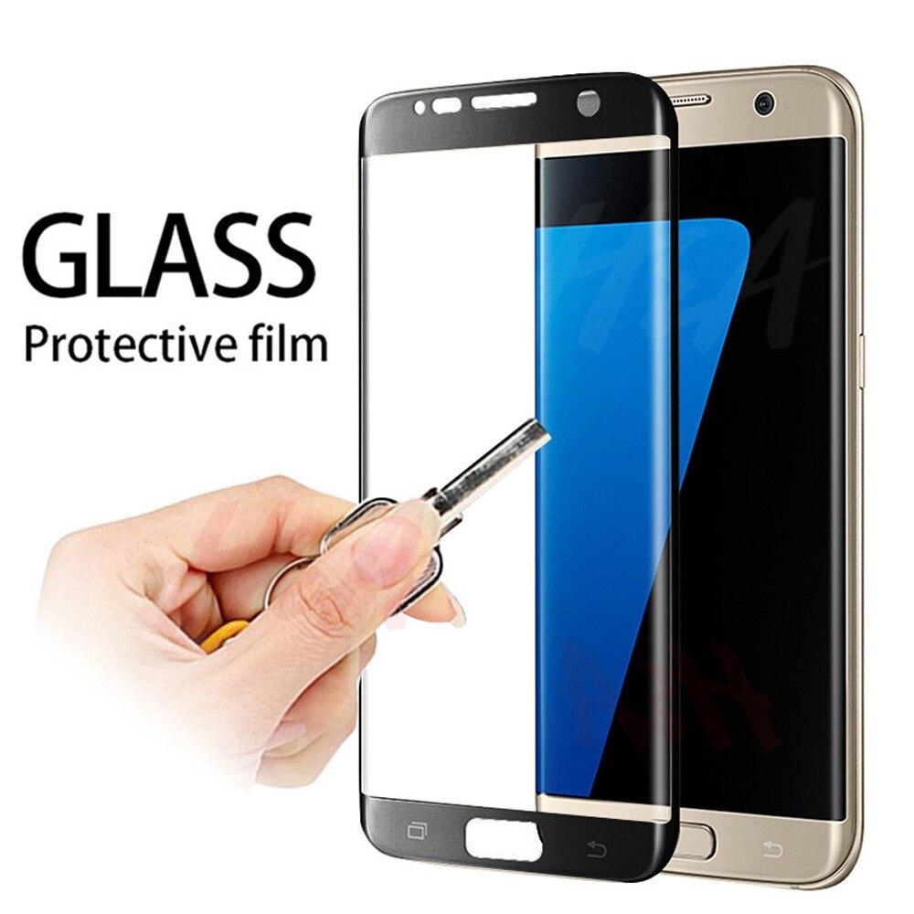 Закаленное стекло для samsung Galaxy S7 edge S8 S9 S10e S10 plus, полное покрытие, Защитная пленка для экрана телефона Защитные стёкла и плёнки      АлиЭкспресс