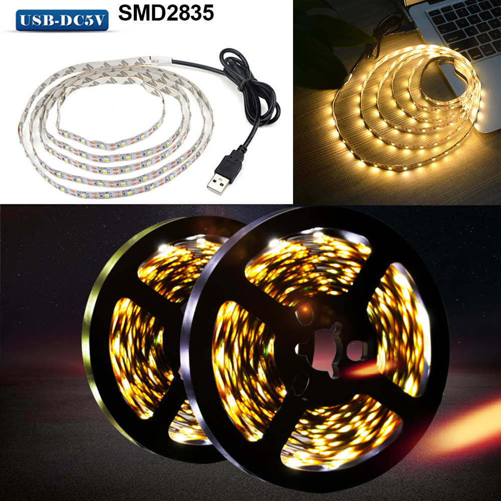 DC12V SMD2835 Flexible LED Strip Waterproof Tape Lights Waterproof 0.5m-5m Lamp