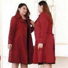 Large Size Fashion Women Autumn Windbreaker Long Sleeve Overcoat Female Loose Trench