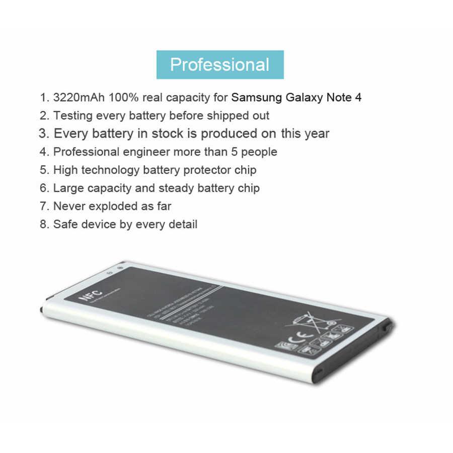 PINZHENG Originale Batteria Del Telefono Mobile Per Samsung Galaxy Note 4 N910 N910C N910A N910V 3220mAh Built-In NFC Batteria di Ricambio