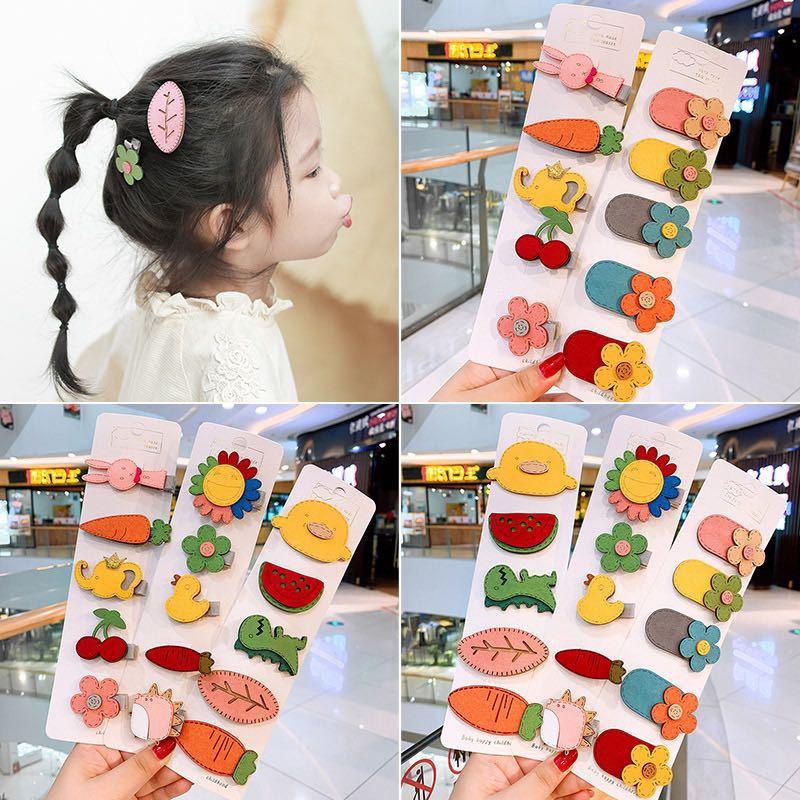 kids accessories rabbit animal print flower headband hair clip cute head bands kawaii spinki do wlosow pins fashion barrette