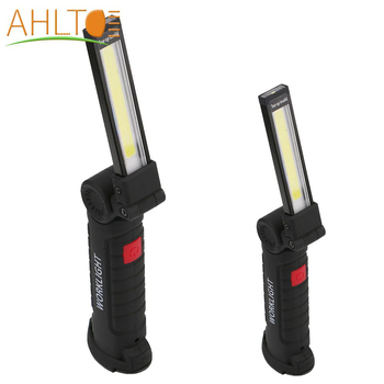 Portable COB Rechargeable LED Bar Work Light  Flashlight Torch USB Magnetic COB Lanterna Hanging Hook Lamp For Outdoor Camping led flashlight torch usb rechargeable led work light waterproof for outdoor camping car repair lamp