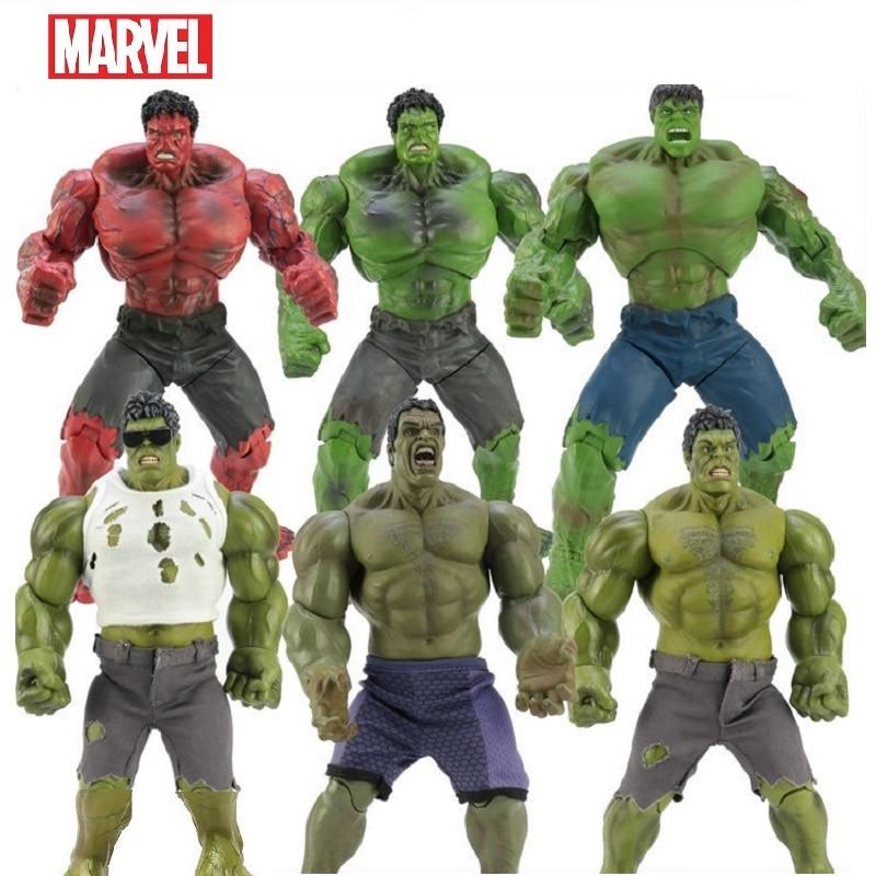 26cm Avengers Marvel Hulk Thor 3 Ragnarok mains mobiles guerre marteau bataille hache gladiateur BJD Hulk figurine modèle jouet cadeaux