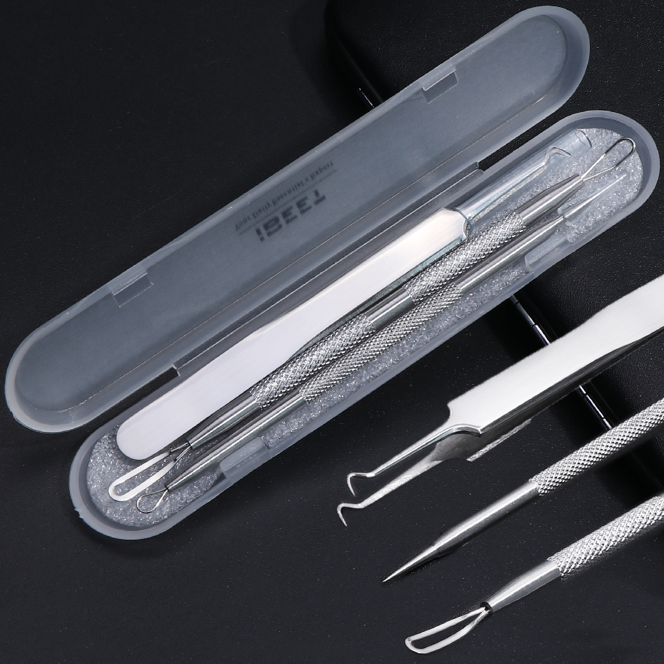 Stainless Steel Acne Needles Comedones Pimple Blemish Extractor Nose Blackhead Remover Face Skin Pore Cleaning Care Tools LYMP01