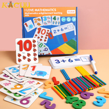 Montessori Math Toy Children Mathematics Early Educational Counting Wooden Sticker Kids Number Cognition Toys Baby Birthday Gift