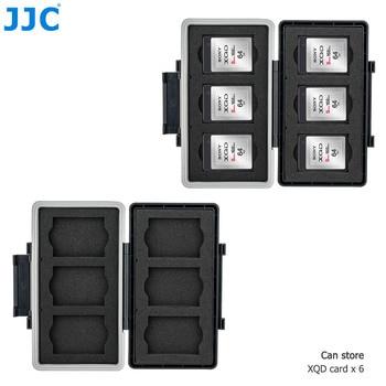 JJC 6 Slots Memory Card Case Holder Storage Box Organizer for XQD Card Wallet Keeper Protector for Nikon Z6 Z7 D850 D500 D6 D5