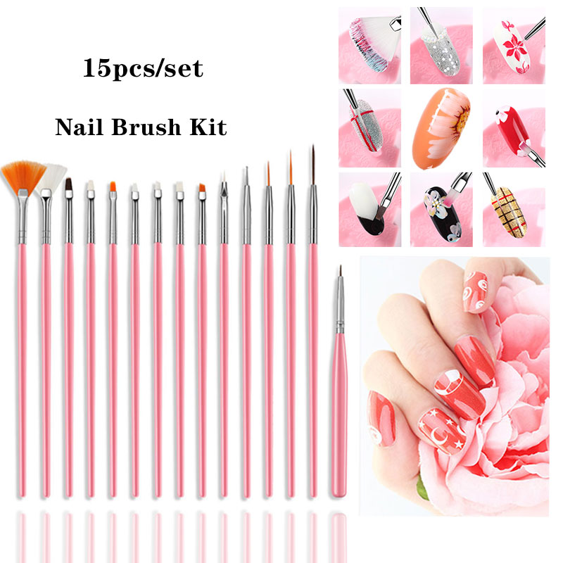 Lgzhlink Nail Brush Set For Manicure Gel Brush For Nail Art For Acrylic Brush For A Manicure For Pinceau Nail Art Pour Ongle Set