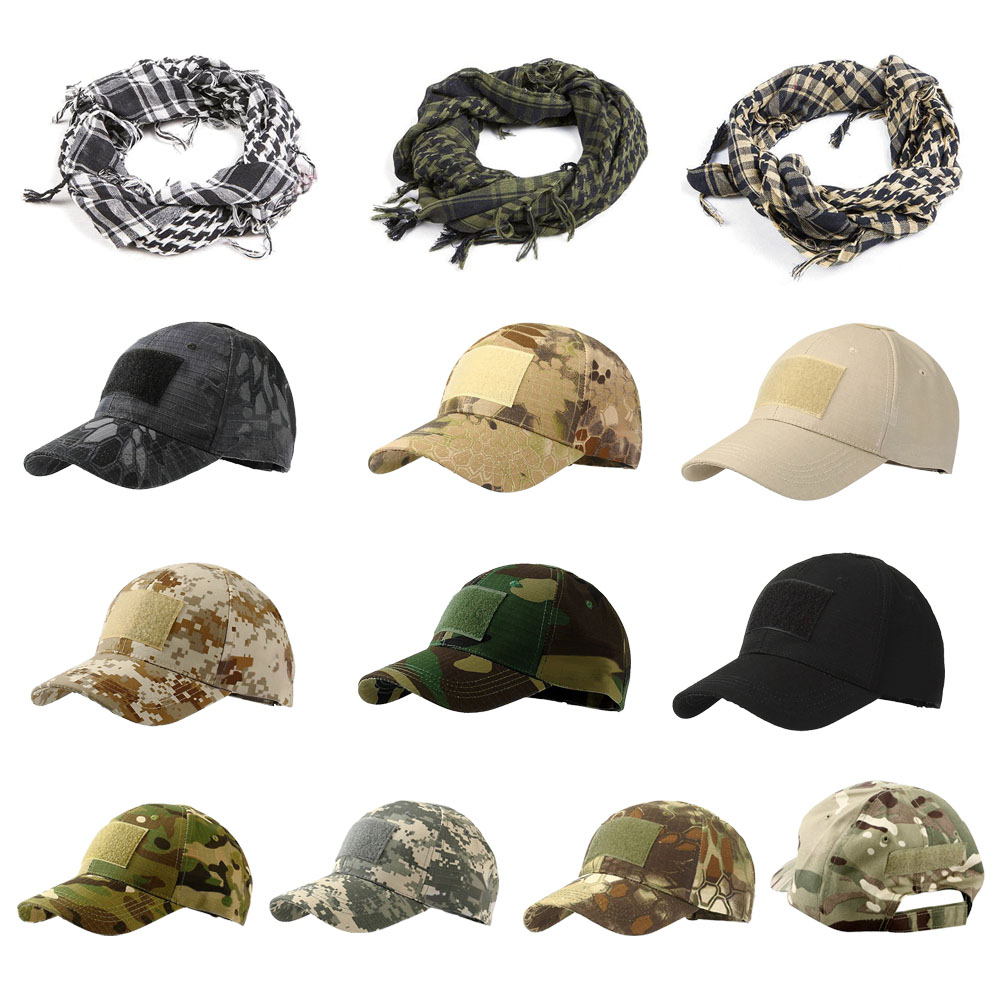Outdoor Sport Tactical Cap Tactical Neck Scarf Camouflage Hat Scarf Simplicity Tactical Military Army Hat Head Scarf Hunting Cap