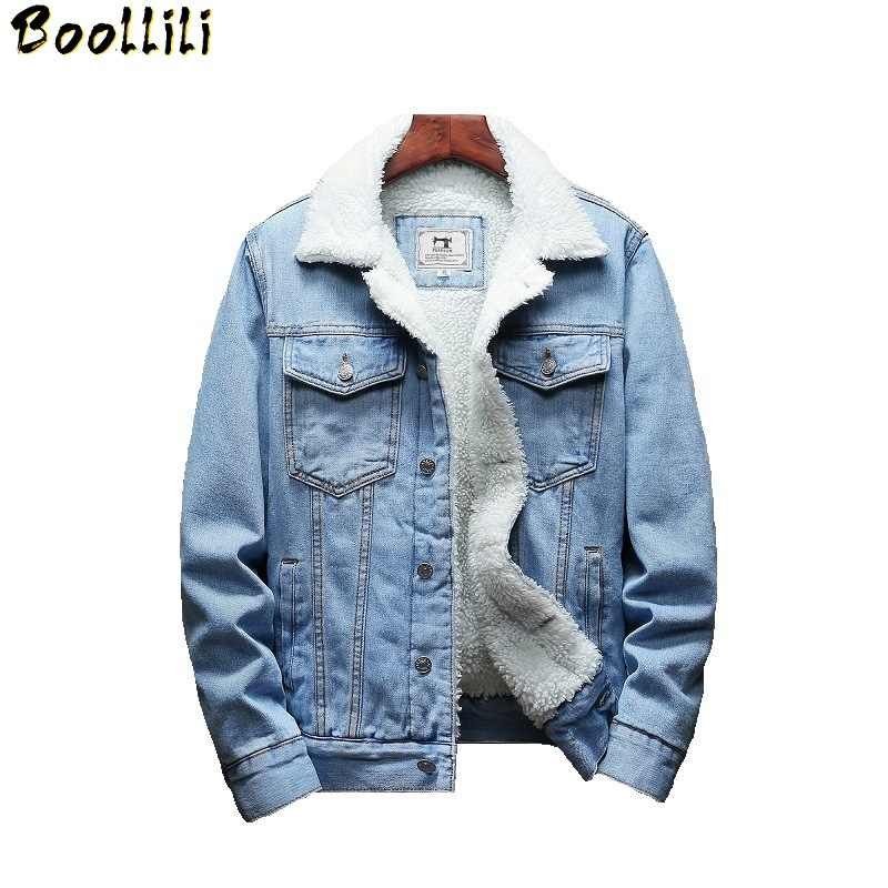 Men Denim Jackets And Coats Winter Warm Jackets High Quality Men Thicker Warm Jean Jackets New Male Blue Casual Denim Jackets