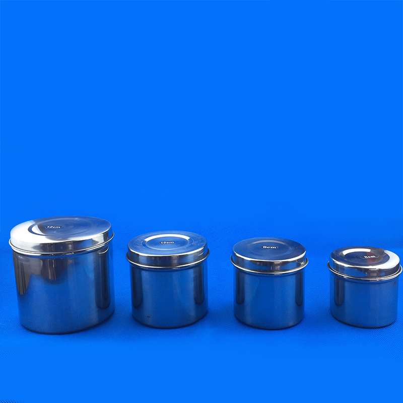 304 Stainless Steel Box Cylinder Alcohol Cylinder Sterilization Pot Tattoo Sterilization Pot Tray Case
