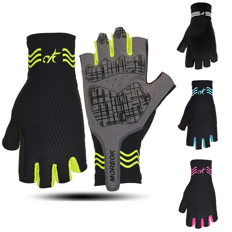 Non-slip Lycra Mesh cycling <font><b>glove</b></font> fingerless Sport riding racing bicycle mittens MTB <font><b>mountain</b></font> road <font><b>bike</b></font> <font><b>glove</b></font> <font><b>gel</b></font> half finger image