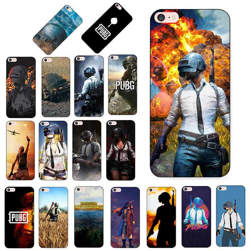 MaiYaCa pubg Luxury Quality Black silicone soft tpu Phone Case for iPhone 8 7 6 6S Plus XS XR XS MAX 10 5 5S SE case Coque funda