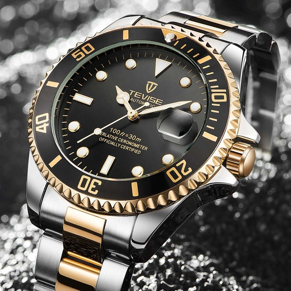 Fashion Brand TEVISE Green Water Ghost Men Stailness steel Automatic Mechanical/Quartz Watch Men Luminous Business Wristwatches|Mechanical Watches|   - AliExpress