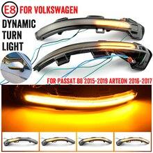 LED Turn Signal Light For VW Passat B8 Variant Arteon Rearview Side Mirror Dynamic Sequential Blinker Indicator 2015 2016 2017