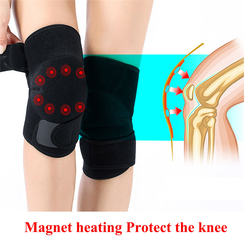 1 Pair Self Heating Knee Brace Sleeve Adjustable Tourmaline Magnetic Therapy Knee Mat Support Knee Brace Pads