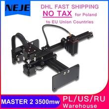 NEJE MASTER 2 3500mw / 7W Machine de gravure Laser Mini CNC coupe bois routeur bureau graveur prend en charge le contrôle APP