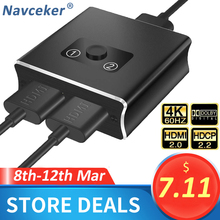 مفتاح HDMI ثنائي الاتجاه 1 × 2 ، 2020 ، متوافق مع HDMI 2.0 ، HDCP 2.2 UHD ، 4K ، 2x1 ، HDMI Switch Box لـ Apple TV ، XBox ، PS3 ، PS4 ، HDTV