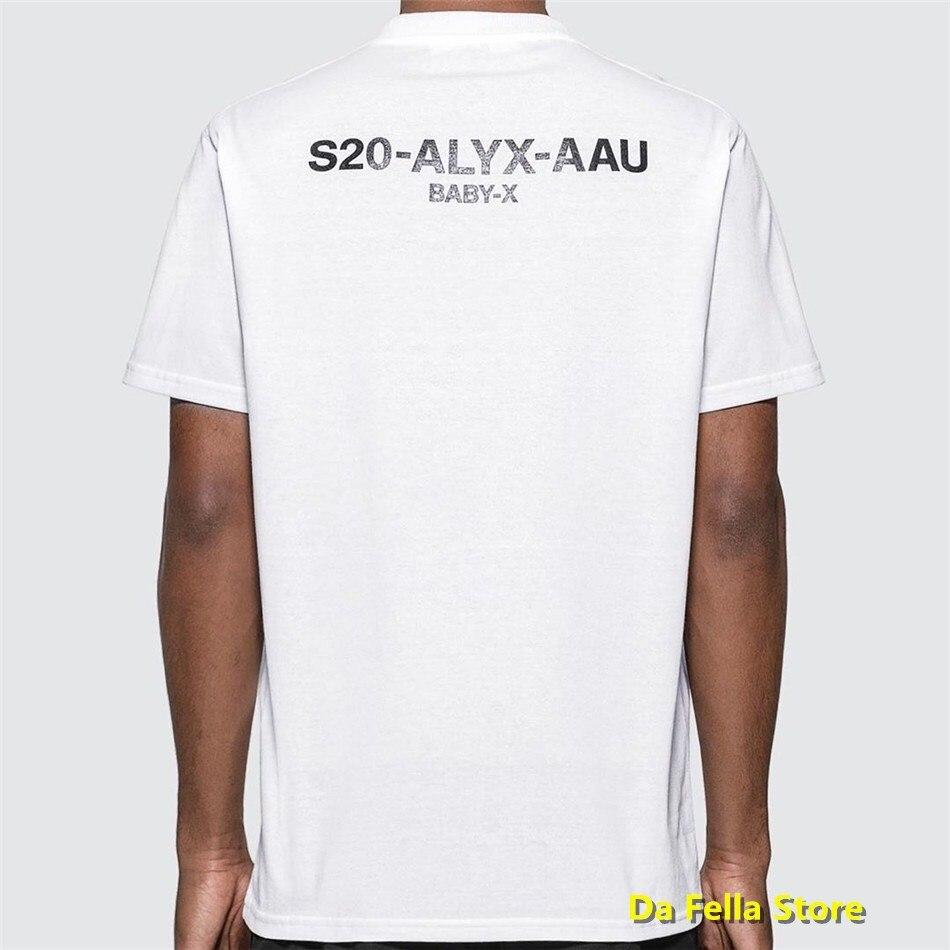 ALYX T-shirt 1017 ALYX 9SM Tee 2020 Men Women Summer T-shirts S20-AAU BABY Logo Print High Quality Cotton Tops Black White