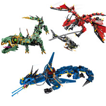 Flying Mecha Dragon Building Blocks Bricks Toys Model Figures Model Gifts Compatible with City Friends