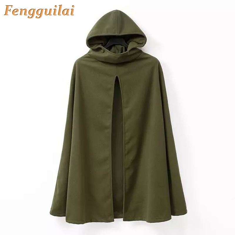 FENGGUILAI Tassel Pullover Capes-Coat Poncho Knitted Sweaters Women Casual Green Solid