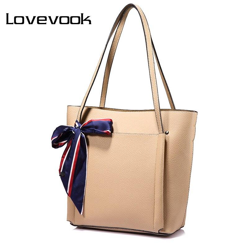 Bolsa de Ombro Bolsas do Mensageiro Qualidade com Arcos Lovevook Mulheres Feminino Grande Capacidade Senhoras Ocasional Tote Bags Alta Preto