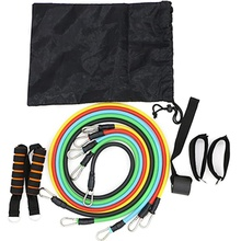 Fitness Insanity Resistance Band Set 5 Stackable Exercise Bands with Waterproof Carrying Case Door Anchor Attachment Legs Ankle